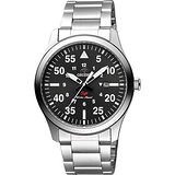 ORIENT 東方錶野戰石英鋼帶錶-黑 / FUNG2001B (原廠公司貨)
