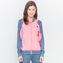TOP GIRL 亮彩雙色立領運動外套-紅