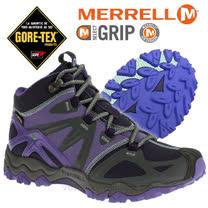 【美國 MERRELL】女新款 Grossbow Sport Mid Gore-Tex專業防水透氣中筒登山健行鞋_藍紫色 ML32512