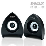 台灣三洋SANLUX 2.0聲道USB多媒體電腦喇叭 (SYSP-233)