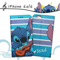 迪士尼授權正版 iPhone6s / 6 i6s 4.7吋 音樂派對磁力皮套(Music史迪奇)
