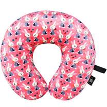 《DQ》U型護頸記憶枕(粉紅兔)