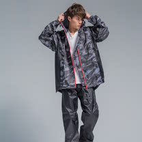 OutPerform-玩酷率性兩件式風雨衣-灰迷彩/黑