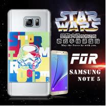 STAR WARS 星際大戰 SAMSUNG GALAXY Note 5 N9200 彩繪軟式手機殼 保護殼(彩兵頭)