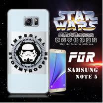 STAR WARS 星際大戰 SAMSUNG GALAXY Note 5 N9200 彩繪軟式手機殼 保護殼(白兵頭)