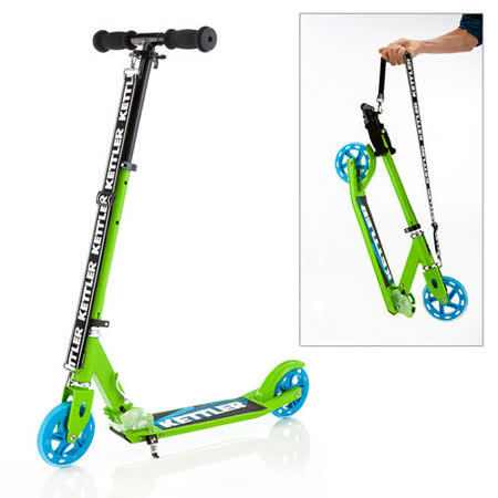 【德國KETTLER】Zero 6 時尚親子滑板車-閃亮綠