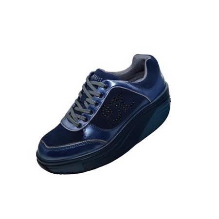 METAFIT時尚健康鞋~全皮系列-52-摩登藍