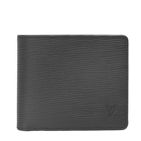 Louis Vuitton LV M60662 Multiple EPI水波紋皮革雙折短夾.黑_預購