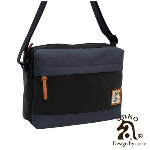 CORRE ~ ANKO自我風格立體式MIT尼龍側背包~低調黑