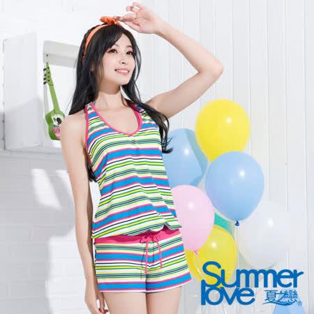 【夏之戀TRAVEL FOX】亮彩連身褲三件式泳衣(C15714)