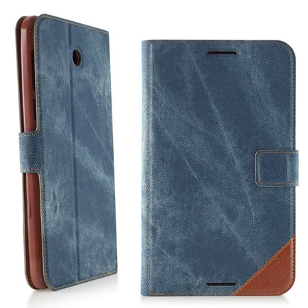 Miravivi ASUS Fonepad 7 (FE375CG/FE375CL) 时尚个性复古牛仔笔记本皮套