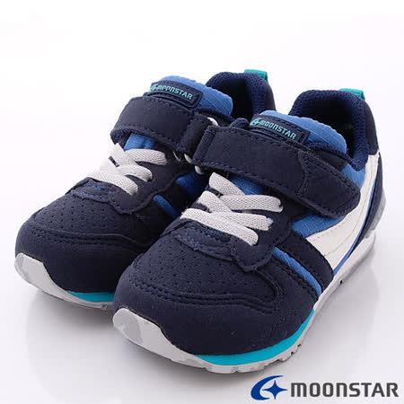 日本Carrot機能童鞋-創新配色穩定款C2121N5深藍-(15cm-21cm)