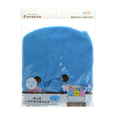 頭髮速乾吸水帽-藍象