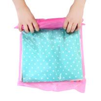 PUSH!旅遊戶外用品 手壓式真空壓縮袋防水衣物收納袋(大號2包4入)S36天藍