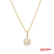 【YUME】K金小皇冠晶鑽項鍊