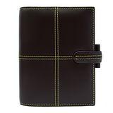 FILOFAX  經典CLASSIC 口袋筆記本-咖啡色(黃車線)