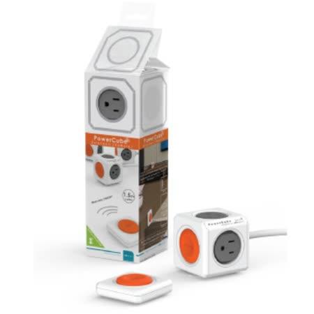 【PowerCube】遙控延長線 遙控灰→4插座3孔、1.5米