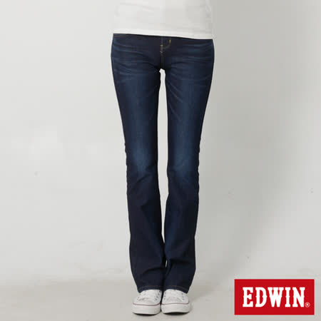 EDWIN 迦績褲JERSEYS靴型牛仔褲-女-原藍磨