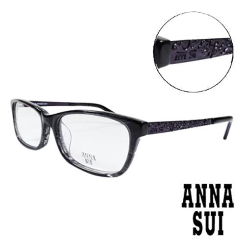 ANNA SUI立體薔薇浮雕 眼鏡 黑色 AS624~905