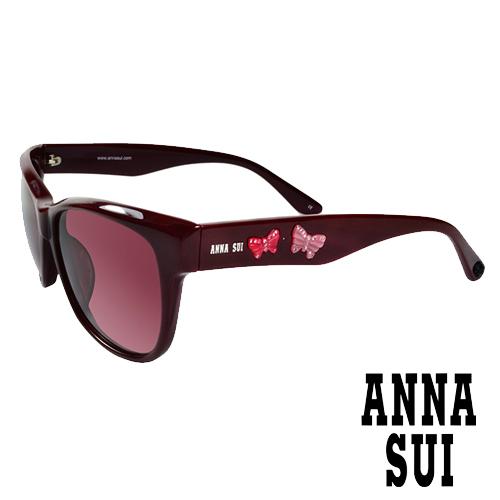 Anna Sui 安娜蘇 立體浮雕蝴蝶雙飛翼 太陽眼鏡 棗紅 AS847270