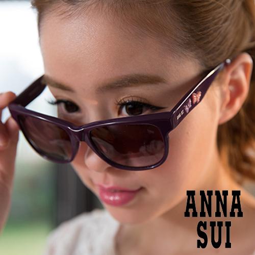 Anna Sui 安娜蘇 立體浮雕蝴蝶雙飛翼 太陽眼鏡 暗紫 AS847712