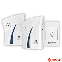 【KINYO】1對2交流式遠距離無線門鈴(DBA-376)