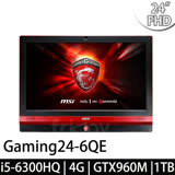 【msi微星】Gaming24 6QE-015TW 24吋 i5-6300HQ GTX960M(電競AIO)