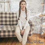 【Tiara Tiara】GO獨有 水玉彩色雨滴長袖高領純棉上衣(白/藍/黃)
