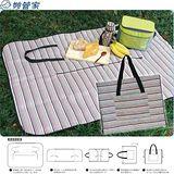 【妙管家】戶外攜袋式野餐墊兩入 56001