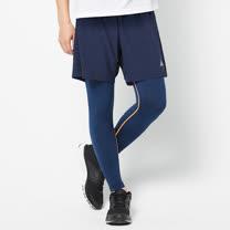 FIVE UP(男)-運動緊身長褲-深藍
