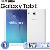 Samsung 三星 GALAXY Tab E 8.0 16GB LTE版 (T3777) 8吋 四核心通話娛樂平板電腦(白)【送保護套+大立架+電容筆+充電傳輸線】