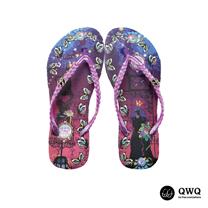 【QWQ】創意設計夾腳拖鞋-Cat Princess-紫(無鑽)
