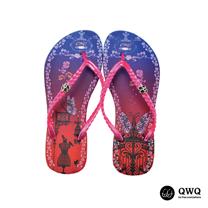 【QWQ】創意設計夾腳拖鞋-虹欄-粉(無鑽)