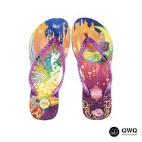 【QWQ】創意設計夾腳拖鞋-幻夜-紫(無鑽)