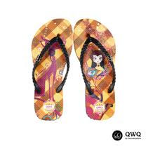 【QWQ】創意設計夾腳拖鞋-貓之鏡-咖啡(無鑽)