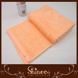 SHINEE 台灣製《繽紛亮彩純棉枕巾》橘色-2入.