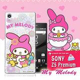 三麗鷗SANRIO授權正版 My Melody 美樂蒂 Sony Xperia Z5 Premium 5.5吋 透明軟式保護套 手機殼(郊遊)