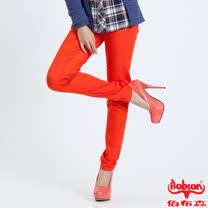 BOBSON 彩色強彈力緊身褲-紅色 8068-21