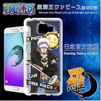 日本東映授權正版航海王 Samsung Galaxy A7(2016版) 透明軟式手機殼(封鎖羅)