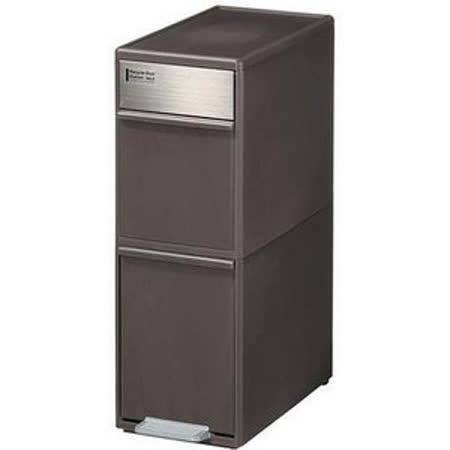 日本製*日本 吉川國 35L分類垃圾桶-咖