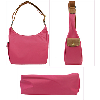 Longchamp 豔彩繽紛斜背包-糖粉色