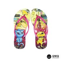 【QWQ】創意設計夾腳拖鞋-Stealing Fish-粉(無鑽)