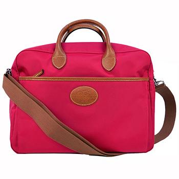 Longchamp 經典高彩度手提肩背兩用大方包-艷紅色