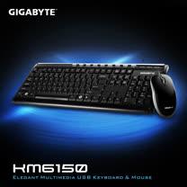 技嘉 GIGABYTE KM6150 多媒體USB鍵盤滑鼠組 (黑)