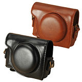 Kamera 兩件式皮質包 for Canon G9 X