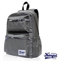 KANGOL 英國袋鼠 Adelaide迷彩系列機能時尚潮流後背包-鐵灰色KG1111-04