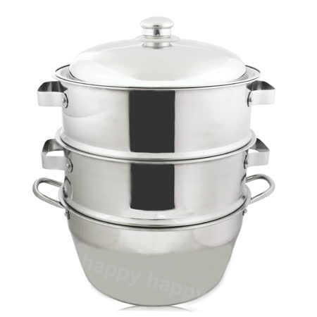 304不銹鋼蒸籠組湯鍋35cm二入蒸盤
