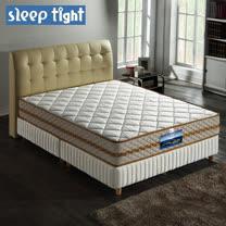 【Sleep tight】二線3M防潑水/防蹣抗菌/五段式獨立筒床墊(實惠型)-5尺雙人