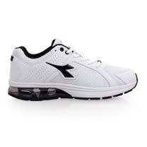 (男) DIADORA 氣墊慢跑鞋-路跑 寬楦 運動鞋 休閒鞋 白黑