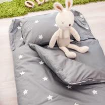 OLIVIA  星語 灰  100%精梳純棉 舖棉兩用加大型兒童睡袋